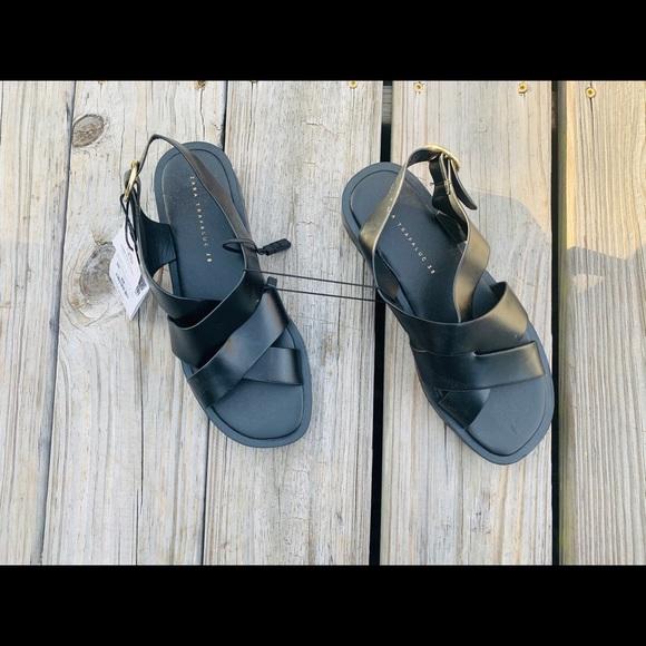 COPY - Zara black dad sandals NWT A3